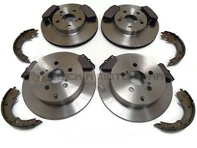 FRONT AND REAR BRAKE DISCS AND PADS FOR TOYOTA CELICA 1.8 VVTI 11//1999-7//2002