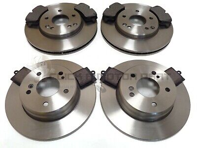 Mercedes C180K C200K Coupe 2001-2007 Front & Rear Brake Discs And Pads Set New