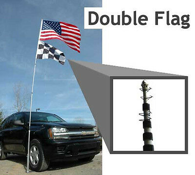 20 Foot Telescoping Flagpole & Stand