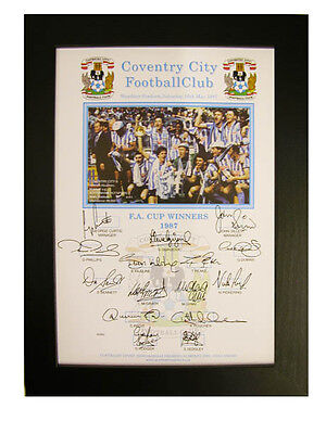 Coventry City FA Cup Winning Team Signed 1987 Framed