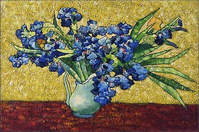 Quality Hand Painted Oil Painting Repro Van Gogh Irises in Vase 24x36in
