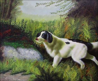 Quality Hand Painted Oil Painting Hunting Dog 20x24in