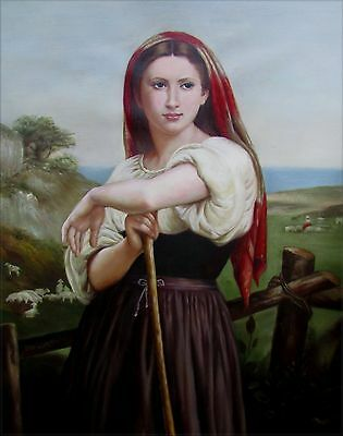 Quality Hand Painted Oil Painting Repro Bouguereau Jeune Bergere 20x24in