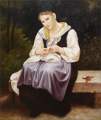 Hand Painted Oil Painting Repro Bouguereau Ouvriere Young Worker 20x24in