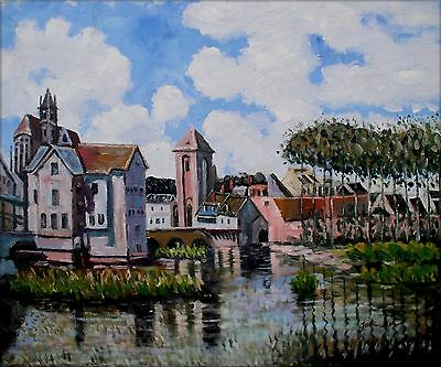 Hand Painted Oil Painting Repro Alfred Sisley Moret-sur-Loing 20x24in