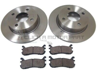 FRONT AND REAR BRAKE DISCS AND PADS FOR MAZDA MX-5 1.8 4//1998-12//2005