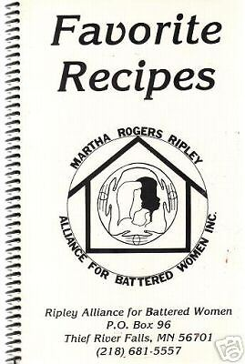 THIEF RIVER FALLS MN c1980 FAVORITE RECIPES COOK BOOK RIPLEY ALLIANCE *LOCAL ADS