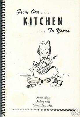*FOREST LAKE MN 1970s FROM OUR KITCHEN COOK BOOK *AMERICAN LEGION *LOCAL ADS