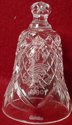 WATERFORD crystal 12 Days of Christmas 7 Swans Swimming Bell