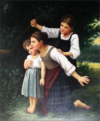 Quality Hand Painted Oil Painting Repro Bouguereau In the Woods 20x24in