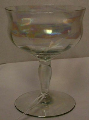 TIFFIN crystal 14199 - OPTIC pattern CHAMPAGNE /SHERBET