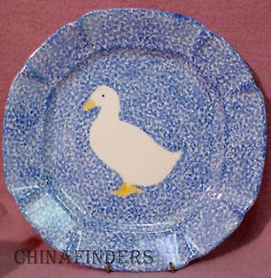 Los Angeles Pottery BLUE STIPPLE with DUCK Small Chop