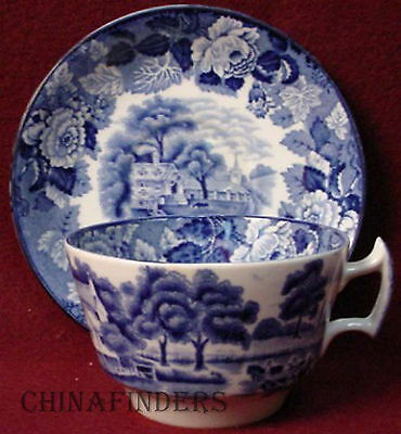 WOOD & SONS china ENGLISH SCENERY Blue Cup & Saucer Set