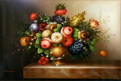 Quality Hand Painted Oil Painting Floral Arrangement 24x36in