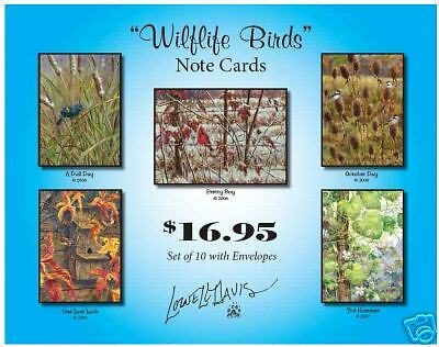 Lowell Davis North America Wildlife Bird Art Note Cards