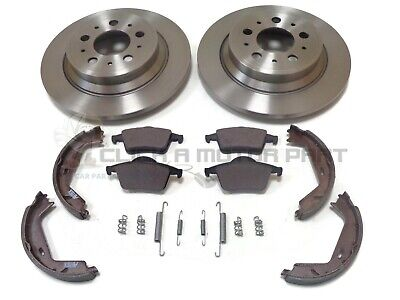 Volvo Xc70 2000-2007 Rear Brake Discs And Pads & Hand Brake Shoes + Fitting Kit