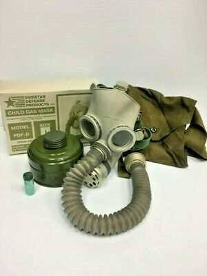 Gas Mask Pdf-D Child Mask New In Box Size Large