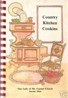 *MARTIN OH 1982 *VINTAGE OHIO *COUNTRY KITCHEN COOKIN COOK BOOK *CATHOLIC CHURCH