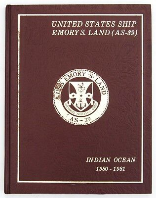Uss Emory S Land As-39  1980-1981 Indian Ocean Cruise Book