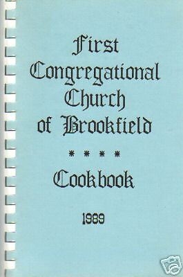 BROOKFIELD IL 1989 VINTAGE ILLINOIS LOCAL COOK BOOK *FIRST CONGREGATIONAL CHURCH