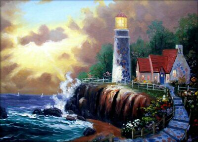 Quality Hand Painted Oil Painting The Light of Peace 12x16in