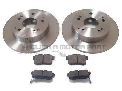 for HONDA CIVIC TYPE-R EP3 2001-2005 REAR 2 BRAKE DISCS AND PADS SET NEW