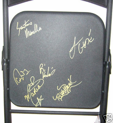 WWE Raw Superstars Signed FS Steel Chair PROOF Maria