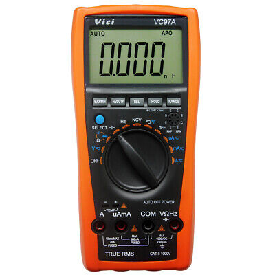 VC97 3 3/­4 Auto range digital multimeter all function ACDC voltage current Capa