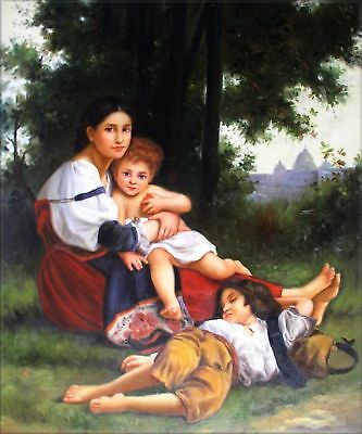 Quality Hand Painted Oil Painting Repro Bouguereau The Rest 20x24in