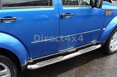 Dodge Nitro 06-12 Stainless Steel Side Steps Running Boards Exterior Part