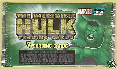 2003 Topps INCREDIBLE HULK Unopened Pack