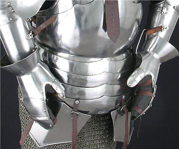 GOTHIC KNIGHT Steel Milanese GAUNTLETS Handguard ARMOR