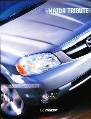 2003 03 Mazda Tribute    original sales brochure MINT