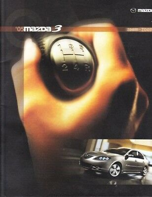 2005 05  Mazda 3 original sales brochure MINT