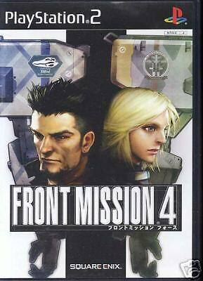 Front Mission 4 Playstation2 PS2 Import Japan SONY