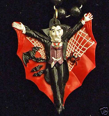 Count Dracula Vampire Red Cape Halloween Party Beads