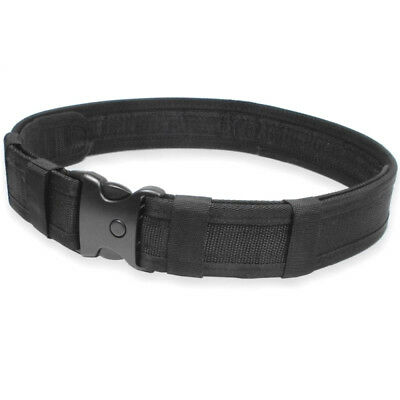 MILITARY UTILITY BELT black quick release no metal prison police security check