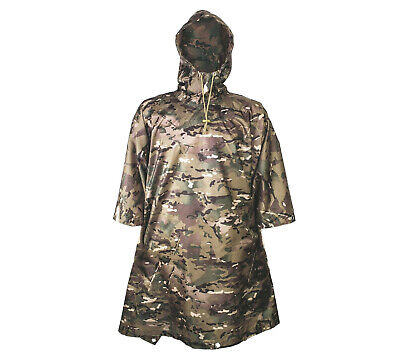 RIP-STOP WATERPROOF WINDPROOF PONCHO/BASHA army olive military hooded SAS jacket