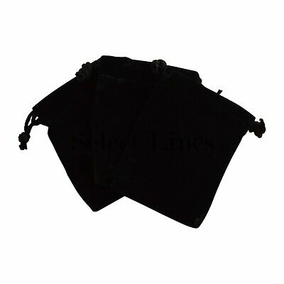 NEW 12pc Black Velvet Jewelry Pouch Bag Display Pouches