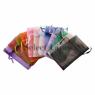 12pc Organza Mixed Colors Jewelry Pouch Display Pouches