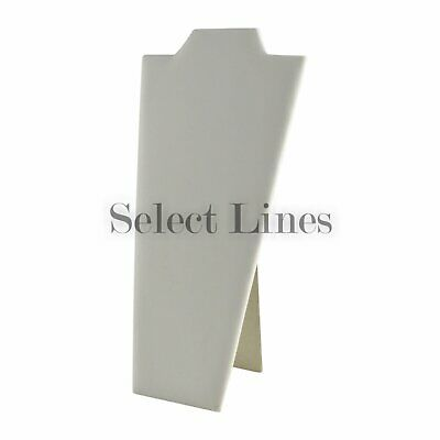 Necklace Display White Leather Jewelry Displays Easel