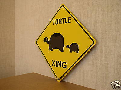 """Turtle Xing 12""""x12"""" Crossing Sign"""