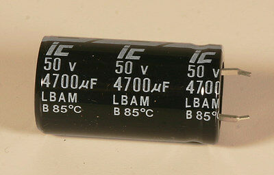 Capacitor - Electrolytic - 4700 MFD - 50 V