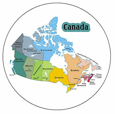 Canada Map - Fridge Magnet,keyring Or Badge - New