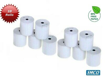 SMCO  QTY 10 57x40mm CREDIT CARD PDQ & THERMAL PAPER ROLLS PK10