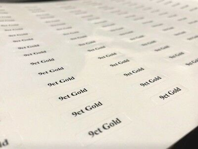 9ct Gold Stickers / Tickets / Labels for Jewellery Displays (Self-Adhesive)