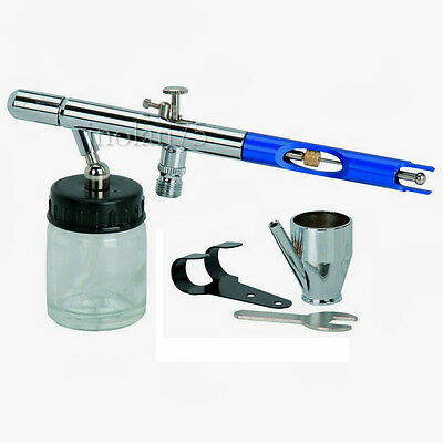 5 Piece Pro Chrome Deluxe Air Brush Airbrush Kit Set & Case Hobby Crafts Models