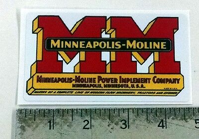 Vintage Minneapolis Moline red/yellow sticker decal