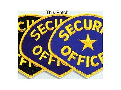 2 (Two) Security Guard Officer Uniform Patch Badge Lot