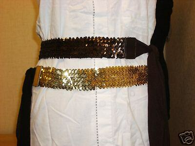 Brand New Elasticated Sequined Ladies Belts (No Buckle)